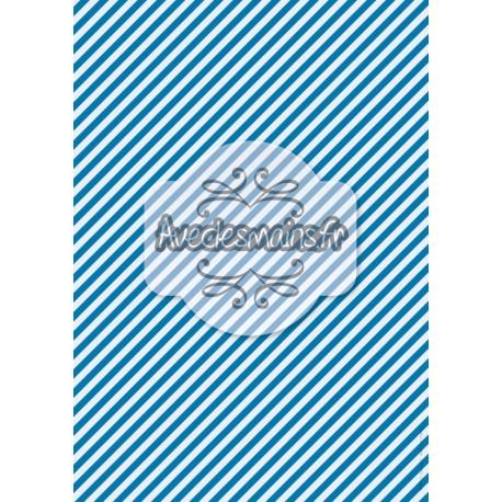 Diagoanles 2 bleus -stamp