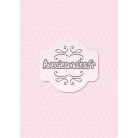 Géométrie japonisante rose - stamp