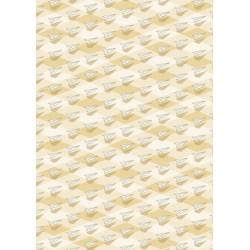 Avions en papier sur losanges beiges