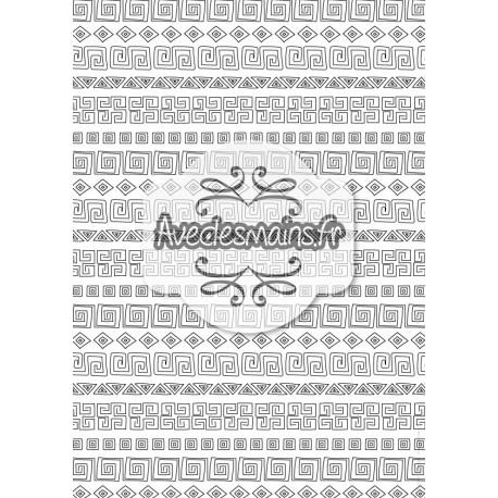 Motifs incas approximatifs noir et blanc - stamp