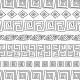 Motifs incas approximatifs noir et blanc - zoom