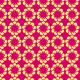 Fleurissement géométrique jaune sur fushia - zoom