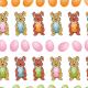 Lapins et œufs de pâques - zoom