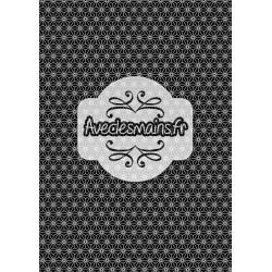 Géométrie japonisante noir et blanc - minipack