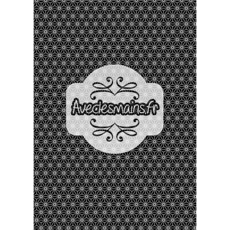 Géométrie japonisante noir et blanc - minipack - stamp
