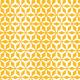 Hélices multipliées blanches sur fond orange - zoom