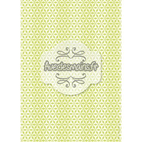 Hélices multipliées blanches sur fond vert - stamp