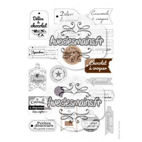 Etiquettes pour gourmandises - stamp