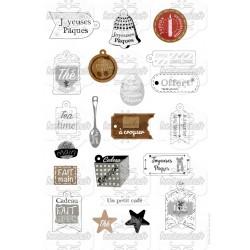 Etiquettes pour souhaiter, pour offrir - stamp