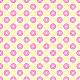 Fleurs a pétales carrés - vert et rose - zoom