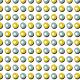 Billes jaunes et bleues - zoom