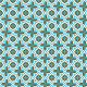Croix en carreaux bleu et marron - zoom