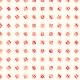 Carré tournant rouge sur fond orange rayé - zoom