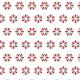 Fleurs rouge et truquoise - zoom