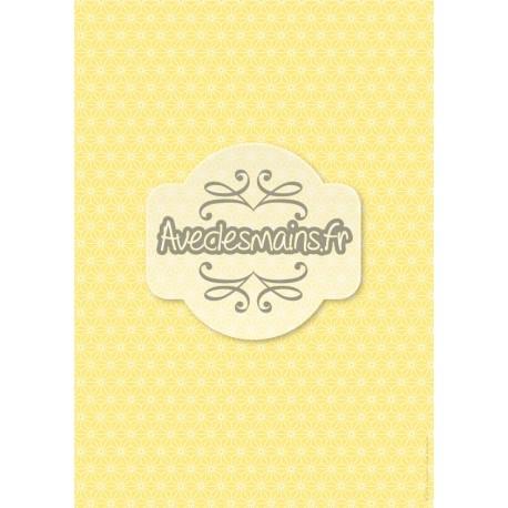 Géométrie japonisante jaune - stamp