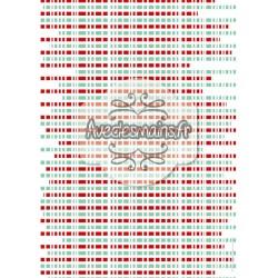 Bandeaux rouge et turquoise rayés de blanc