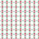 Triangles et carrés turquoise et rouge - zoom