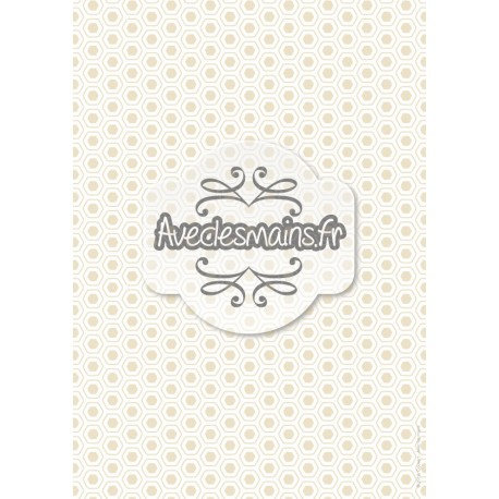Hexagones arrondis beiges - stamp