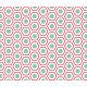 Hexagones arrondis rouge et turquoise 1 - zoom