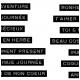 Etiquettes Dymo noires français - petit