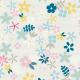 Fleurs éparpillées - pastel - zoom