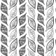 Dessins de feuilles noirs - zoom
