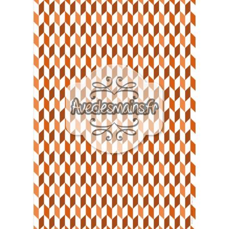 Cubisme automnale orange-marron - stamp