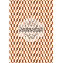 Cubisme automnale orange-marron
