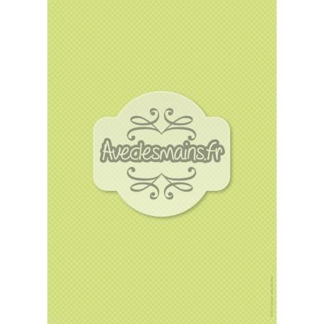 Petits carreaux verts - minipack - stamp