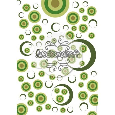 Cercles en cibles - vert - stamp