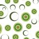 Cercles en cibles - vert - zoom