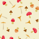 Champignons colorés - zoom