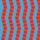 Carrés flottant bleus - zoom