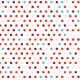 Points 5 couleurs sur fond blanc - zoom