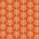 feuilles en épis - fond orange - zoom