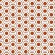 Hexagones arrondis marron - zoom