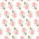 Fleurs roses en branche - zoom