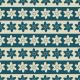 Bande de fleurs bleues et beiges - zoom