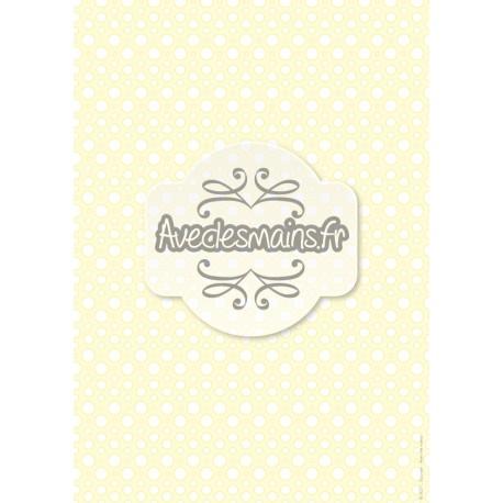 Points en goutelettes - sur fond jaune pâle - stamp