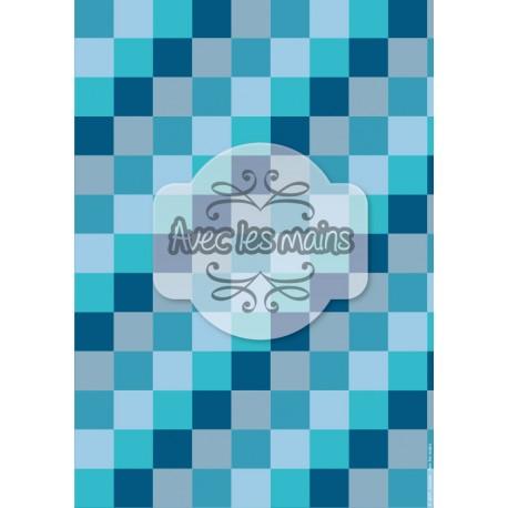 diagonales de  carrés bleus