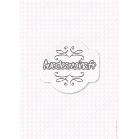Carrés en triangles et rayures -rose - stamp