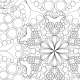 Mandala à colorier - zoom