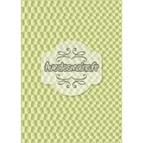 Imitation carrés verts - stamp