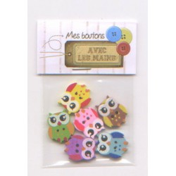 6 Chouette boutons