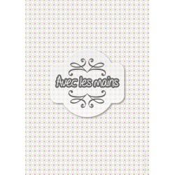 Petits carrés roses et beiges accrochés - stamp