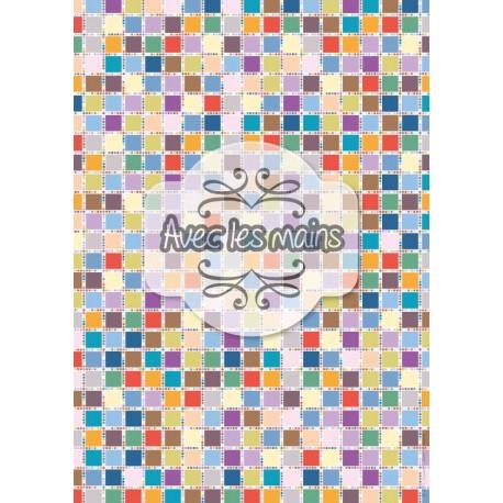 Mozaïc pastel - stamp