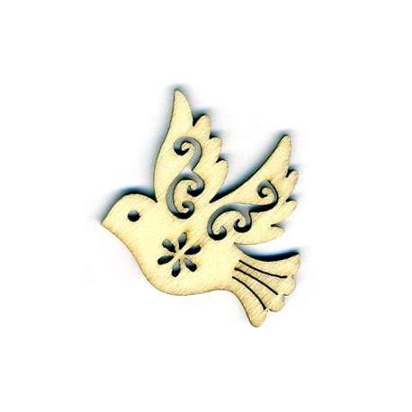 2 colombes - bois - vue unité