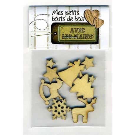 Sujets de Noël - bois - sachet