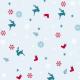 Chaussettes, rennes et sapins - zoom