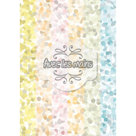 Pointillisme abstrait - pastel - stamp